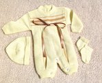 Baby Outfit Overall, 3 tlg., sonnengelb / gold, gr. 000