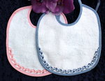 Baby Bib with embroidery or noble ornament