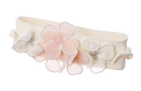 Hair band, cream with flowers