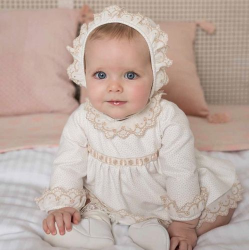 Beautiful baby dress with matching panties