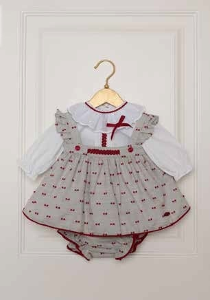 Pretty baby dress with blouse, Pichi and matching panties