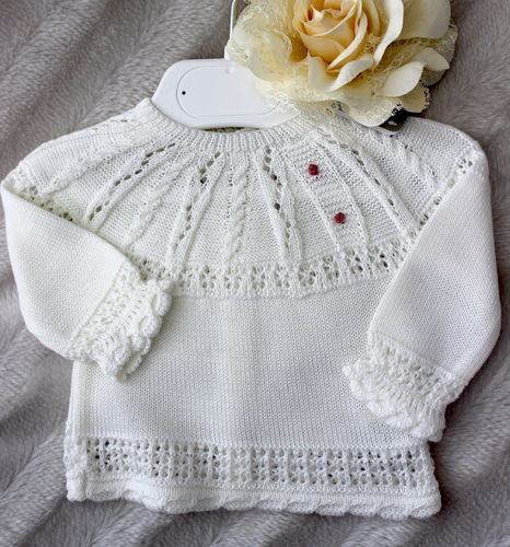 Sweater, cream size 00 M / 40 - 45 cm