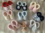 Baby shoes with application