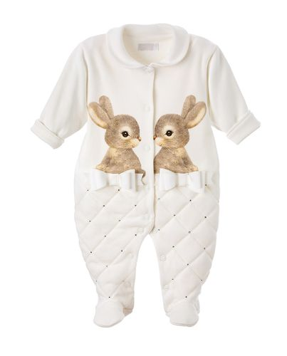 cute jumpsuit with rabbit motif