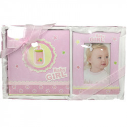Baby album and photo holder set